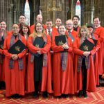 Colour photograph showing the members of the choir of Glasgow Cathedral (Courtesy of Glasgow Cathedral)